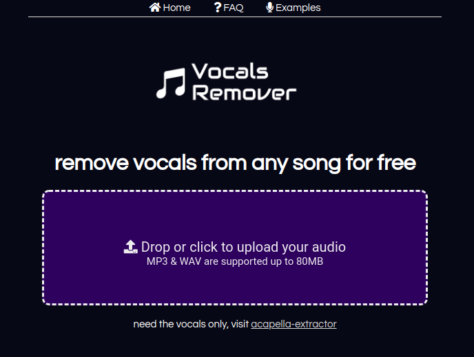 free software to remove vocals from music